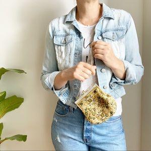 Vintage Small Beaded Hand Made Mini Bag Purse